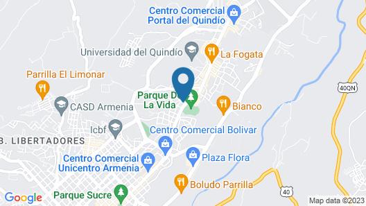 La Otra Mitad Hostel Map