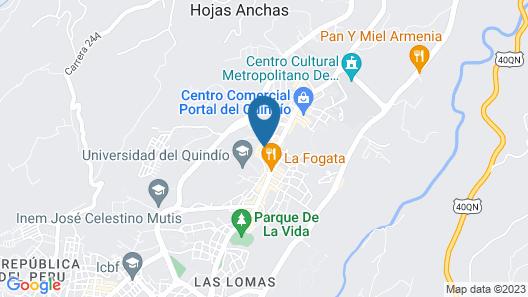Casa Quimbaya Backpackers Hostel Map