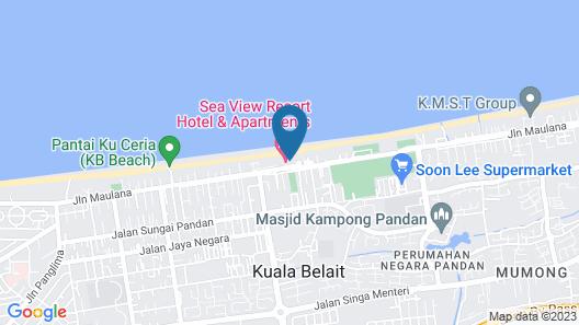 Sea View Resort Hotel & Apartments Map