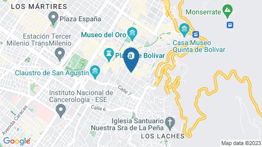 Selina La Candelaria Bogota Map