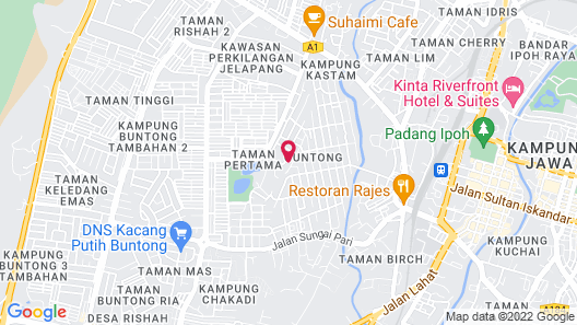 Hotel French Ipoh Map