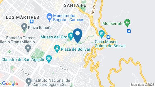 Aparta Suite Edificio Continental Bogotá Map