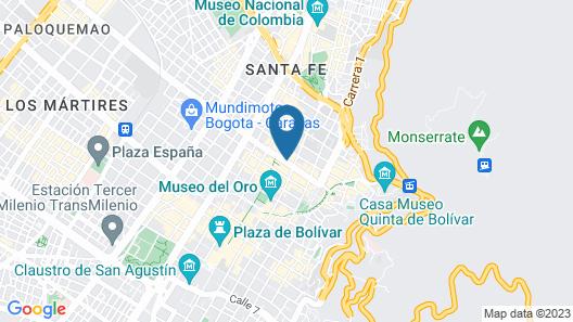 Hotel Dann Avenida 19 Bogota Map