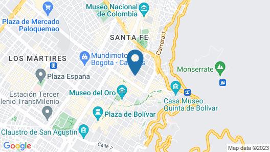 Spotty Hostels Map