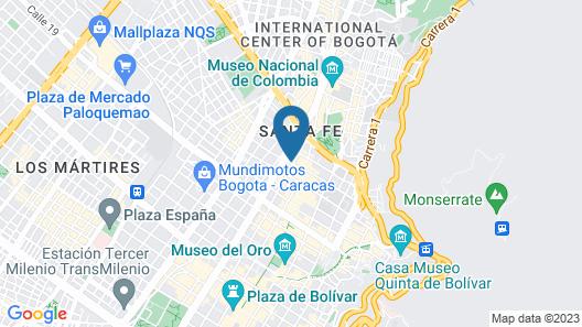 Hotel Americano Bogota Map