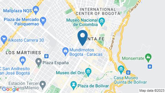 Hotel Bogotá Central Map