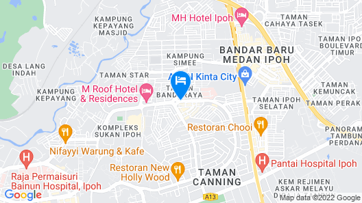 M Roof Hotel & Residences Map