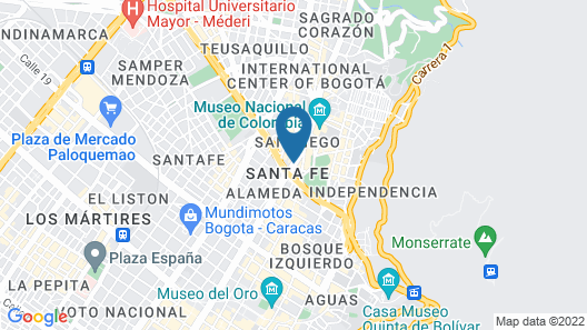 Tequendama Suites and Hotel Map