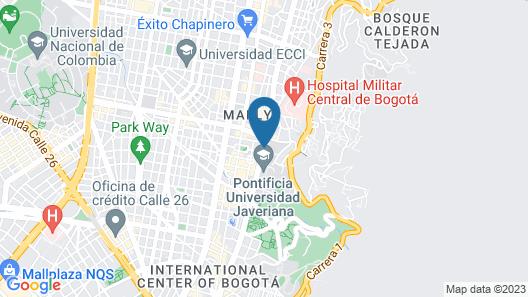 Hotel L'Etoile Universidad Javeriana Map