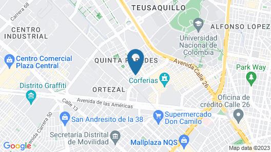 Hotel Regency Suites La Feria Map