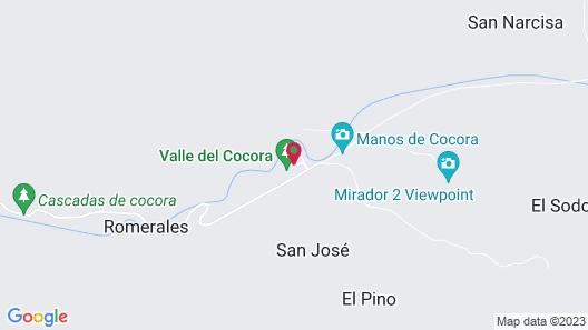Eco Hotel las Palmas de Cocora Map