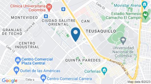 Wyndham Bogotá Map