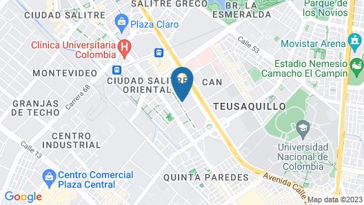 Grand Hyatt Bogota Map