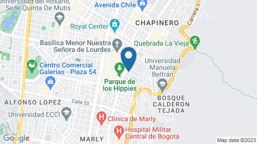 Hotel Estelar Suites Jones Map