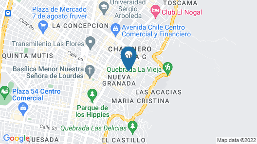 Casa Gaitan Cortes Hotel Map
