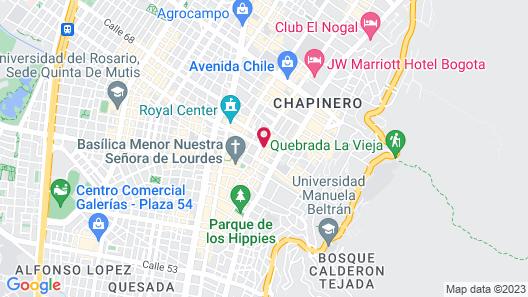 Hotel Vilar America Map
