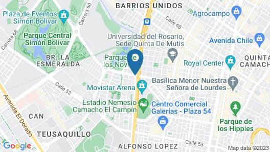 Ayenda 1041 Arena Suites Map