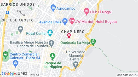 Four Seasons Hotel Bogotá Casa Medina Map