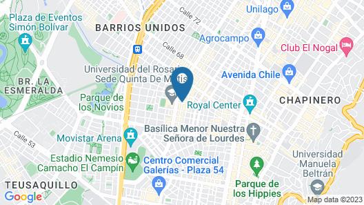 Hotel Estadio 63 Map