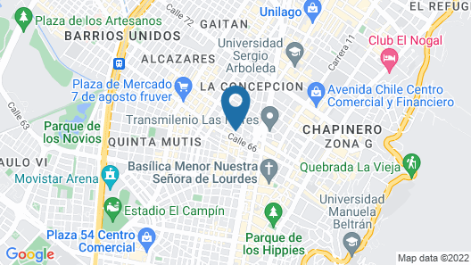 Hostal CQ Chapinero Map