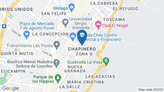 Hilton Bogota Map