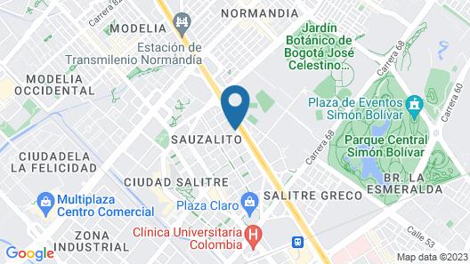 Bogota Marriott Hotel Map