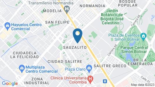 Sheraton Bogota Hotel Map