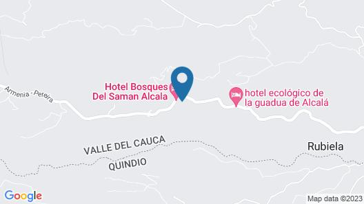 Finca Hotel Bosques del Samán Alcalá Map