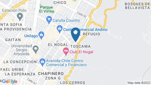 Hotel Porton Bogotá Map