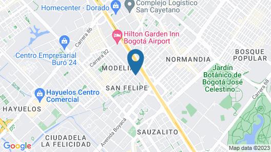 Hampton by Hilton Bogota Airport Map