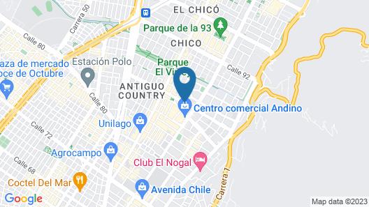 NH Collection Bogotá Andino Royal Map