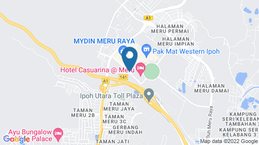 T Hotel Ipoh Map