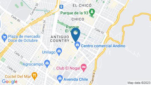 AC Hotel by Marriott Bogota Zona T Map