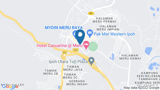 Sun Inns Meru Raya Map