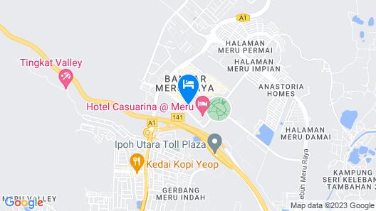 Sun Inns Meru Raya Map