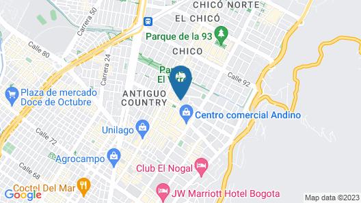 Four Seasons Hotel Bogota Map