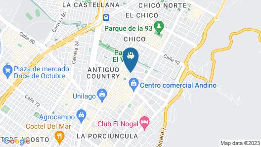 Sofitel Bogota Victoria Regia Map