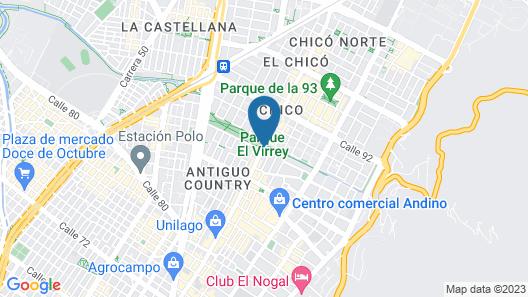Hotel Virrey Park Map
