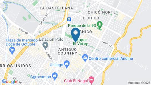 Virrey Condos By Velvet Luxury Map