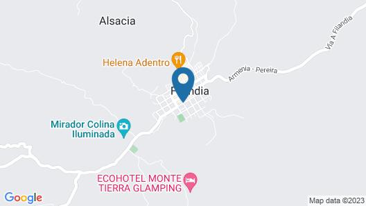 Hostal Coolina de Lluvia Map