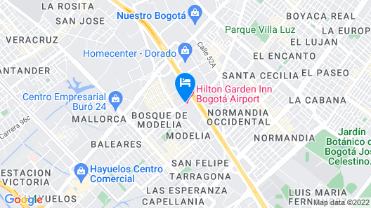 Hilton Garden Inn Bogota Airport Map