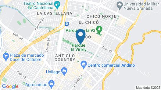 Hotel B3 Virrey Map