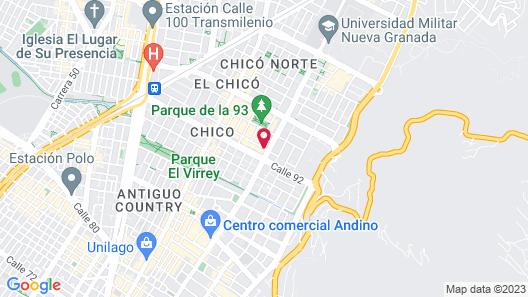 Hotel Estelar Parque De La 93 Map