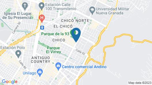 The Click Clack Hotel Bogota Map