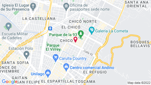 Novotel Bogotá Parque 93 Map