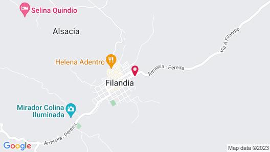 Hostal Campestre El Santuario Map