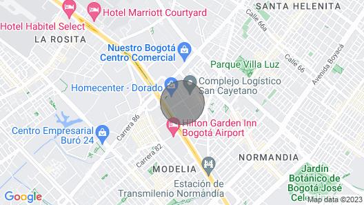 Apartamento Amoblado Vacacional Cali-colombia Map