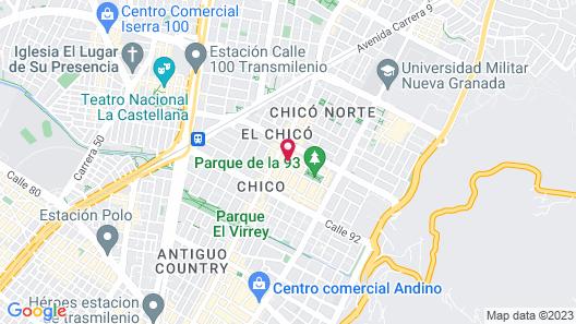 BH Parque 93 Map