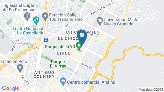 Holiday Inn Express Bogotá - Parque La 93 Map