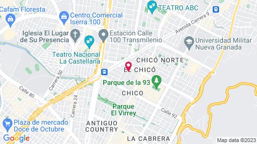 Four Points by Sheraton Bogota Map